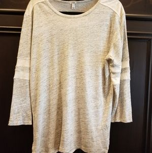 Jcrew grey/cream baseball shirt